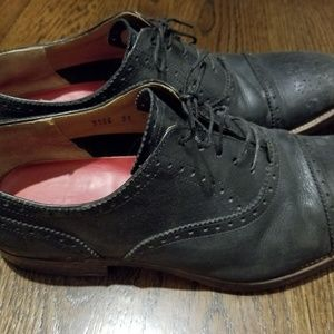 Grenson black lace up men's shoes size 10 brown